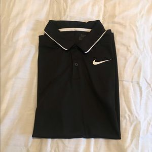 Nike golf dri-fit polo with large swoosh